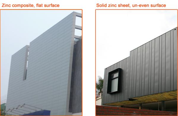 Zinc Metal Panels : Zinc titanium cladding exterior