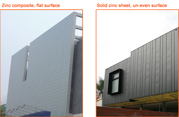 Vm Zinc Wall Cladding Titanium Zinc Composite Panel Zinc